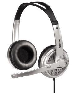 HAMA PC Headset HS-440 silver stereo Paveikslėlis 1 iš 1 250255090358
