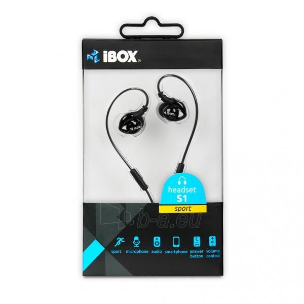 Ausinės I-BOX S1 Sport Audio Mobile BLACK Paveikslėlis 7 iš 7 310820001800