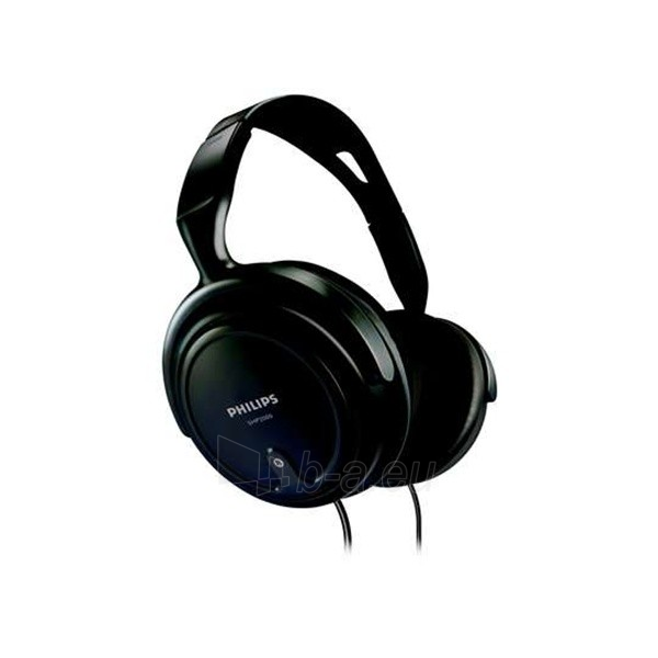 Philips SHP2000 BLACK, HiFi, speakers size - 40 mm, frequency 15-22000 Hz, impediance - 32 Ohm, cord lenght - 2m. Paveikslėlis 1 iš 1 250212000451