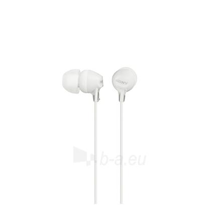 Ausinės Sony EX series MDR-EX15LP Closed, 100 dB, 16 Ω, 8 - 22000 Hz Paveikslėlis 1 iš 2 310820069862