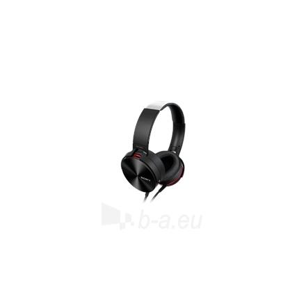 Ausinės Sony headphones MDR-XB950APB Extra Bass Headphones, 40mm driver unit, 3 - 28,000 Hz, 40 Ohm, 106 dB/mW, Black/Red Paveikslėlis 1 iš 8 250212002954