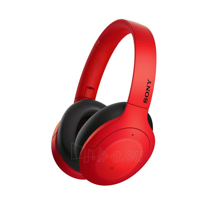 Ausinės Sony WHH910NR Over-ear, Noice canceling, Wireless, Yes, Red Paveikslėlis 1 iš 6 310820222249