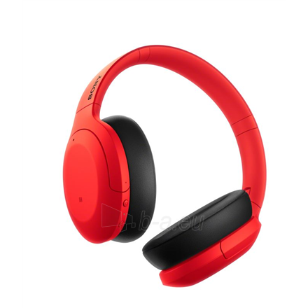 Ausinės Sony WHH910NR Over-ear, Noice canceling, Wireless, Yes, Red Paveikslėlis 2 iš 6 310820222249