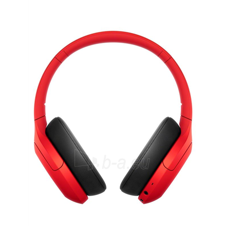 Ausinės Sony WHH910NR Over-ear, Noice canceling, Wireless, Yes, Red Paveikslėlis 3 iš 6 310820222249