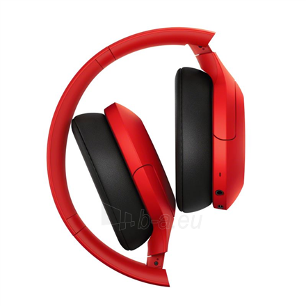Ausinės Sony WHH910NR Over-ear, Noice canceling, Wireless, Yes, Red Paveikslėlis 4 iš 6 310820222249