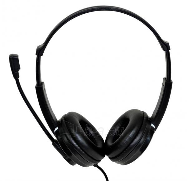 Ausinės Stereo ausinės su mikrofonu Vakoss SK-504K juodas Paveikslėlis 2 iš 6 310820021611
