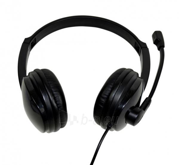 Ausinės Stereo ausinės su mikrofonu Vakoss SK-504K juodas Paveikslėlis 3 iš 6 310820021611
