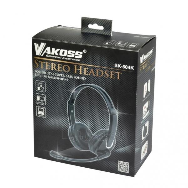 Ausinės Stereo ausinės su mikrofonu Vakoss SK-504K juodas Paveikslėlis 6 iš 6 310820021611