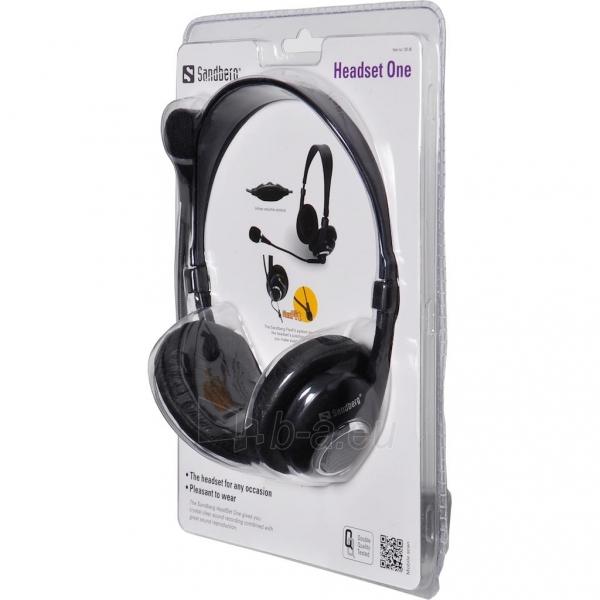 Ausinės su mikrofonu Sandberg Headset One Paveikslėlis 2 iš 2 250255090620