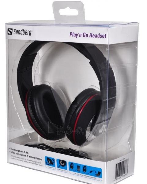 Ausinės su mikrofonu Sandberg Playn Go Juodos Paveikslėlis 3 iš 3 250255090623