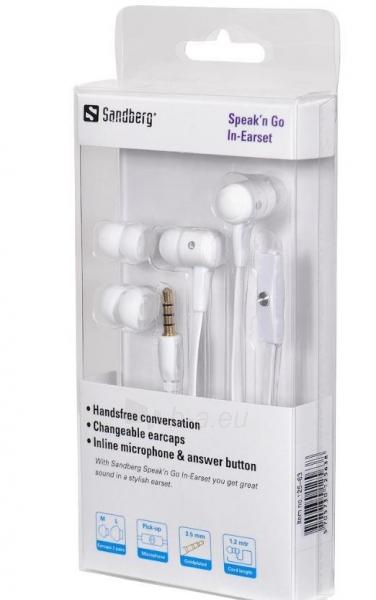 Ausinės su mikrofonu Sandberg Speakn Go Baltos Paveikslėlis 3 iš 3 250255090625