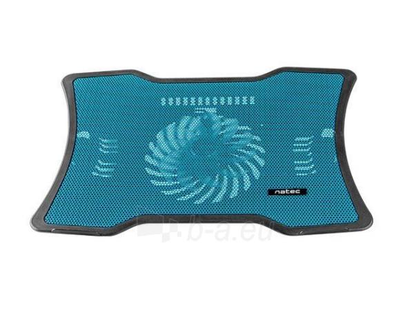 Aušintuvas NATEC laptop cooling pad MACAW Blue (12,1-15,6) silent fan with LED backlig Paveikslėlis 2 iš 3 310820044802