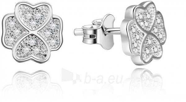 Auskarai Beneto Silver cloverleaf earrings AGUP1193 Paveikslėlis 1 iš 2 310820184351