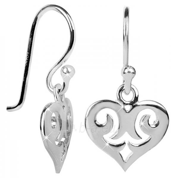 Auskarai Brilio Silver Children´s silver earrings Hearts 436 154 00243 04 - 0.90 g Paveikslėlis 1 iš 2 310820150374