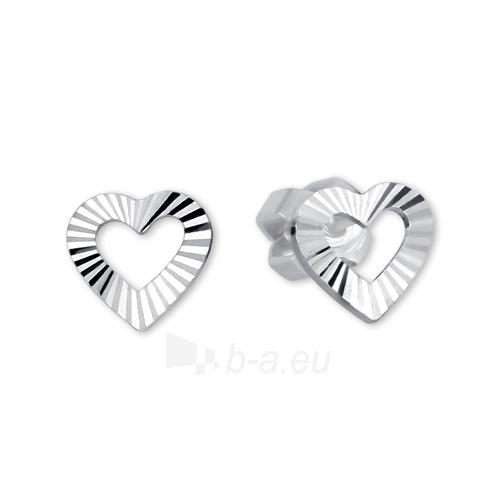 Auskarai Brilio Silver Silver Heart Earrings 431 001 01372 04 - 0.72 g Paveikslėlis 1 iš 1 310820126997