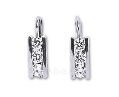 Auskarai Čištín Stříbrné náušnice s čirými krystaly E0012 CZ Paveikslėlis 1 iš 1 30070003235