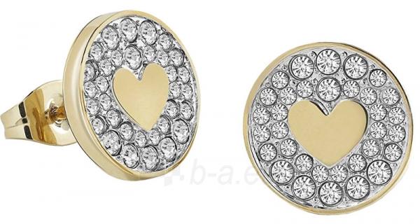 Auskarai Guess Glittering gold plated earrings with hearts UBE85013 Paveikslėlis 1 iš 3 310820179383
