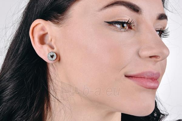 Auskarai Guess Glittering gold plated earrings with hearts UBE85013 Paveikslėlis 3 iš 3 310820179383