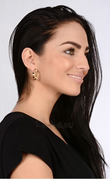 Auskarai Guess Gold-plated semicircular earrings UBE84066 Paveikslėlis 3 iš 3 310820126024