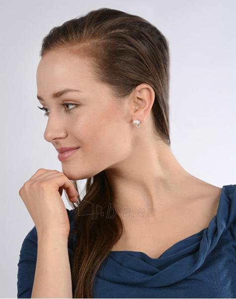 Auskarai JwL Luxury Pearls Elegant earrings with genuine white pearl and cubic zirconia JL0186 Paveikslėlis 2 iš 2 310820126428