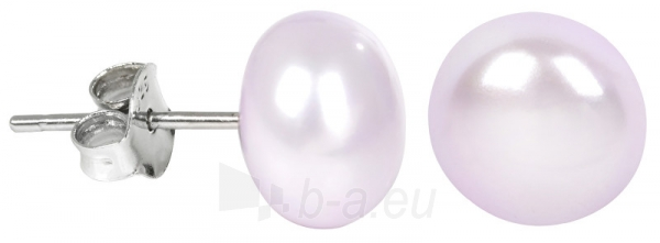 Auskarai JwL Luxury Pearls Silver earrings with pearl pink-right JL0247 Paveikslėlis 1 iš 3 310820126480