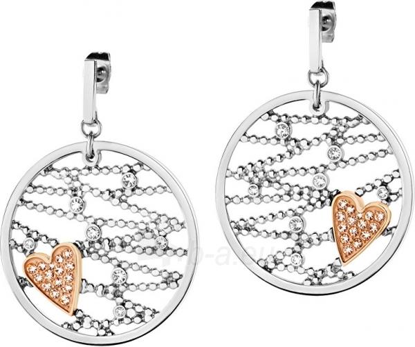 Auskarai Morellato Steel earrings bicolor Cuoremio SADA06 Paveikslėlis 1 iš 2 310820182076