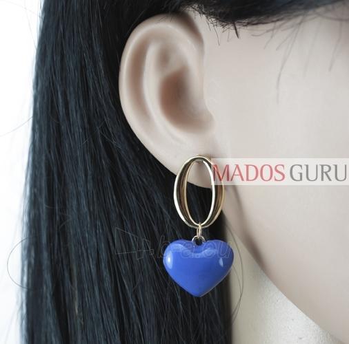 """Earrings """"Heart'' A355 Paveikslėlis 2 iš 2 30070000620"""