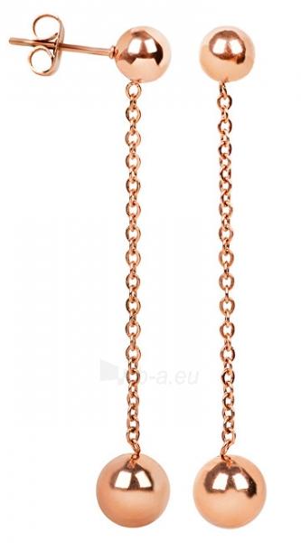 Auskarai Troli Bronze steel earrings with beads Paveikslėlis 1 iš 2 310820179444