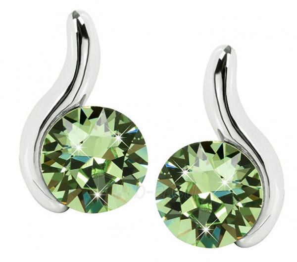 Auskarai Troli Peridot Earrings Chaton Wave Paveikslėlis 2 iš 5 310820183966