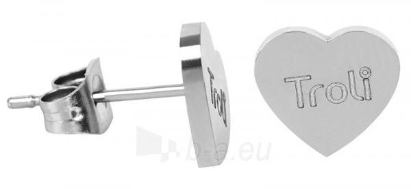 Auskarai Troli Steel heart earrings with KE-016 logo Paveikslėlis 2 iš 3 310820179434