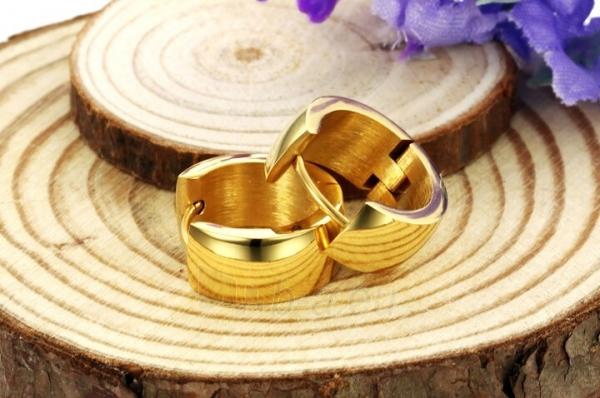 Auskarai Troli Wide, gold-plated steel earrings Paveikslėlis 4 iš 6 310820182242