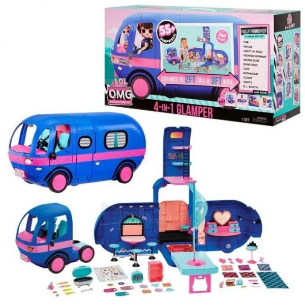 Autobusas LOL 569459 Surprise 4-in-1 Glamper Fashion Camper - With 55+ Surprises Автобус Кемпер 55 сюрпризов Paveikslėlis 1 iš 6 310820252888