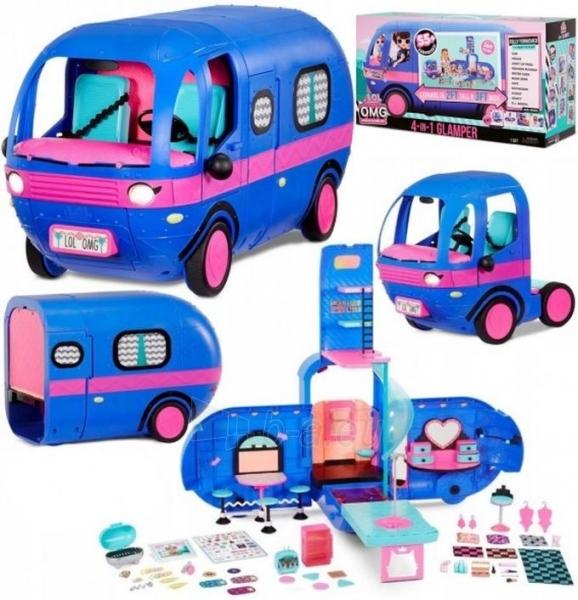 Autobusas LOL 569459 Surprise 4-in-1 Glamper Fashion Camper - With 55+ Surprises Автобус Кемпер 55 сюрпризов Paveikslėlis 2 iš 6 310820252888