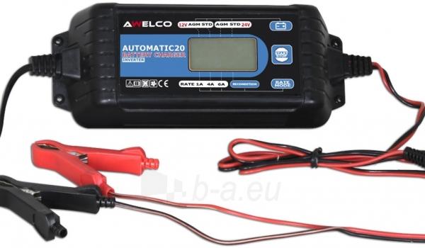 Automatinis inverterinis akumuliatoriaus įkroviklis Awelco Automatic 20 Paveikslėlis 1 iš 2 310820147374