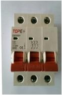 Automatinis išjungiklis 6A 3P 230/400V, 6kA, B Paveikslėlis 1 iš 1 222932000364