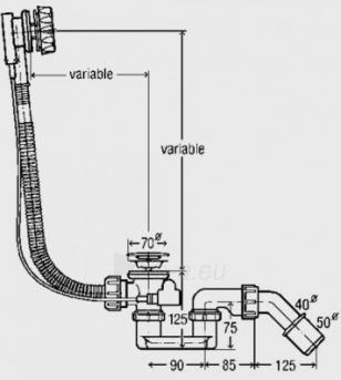 Automatinis vonios sifonas McAlpine Paveikslėlis 1 iš 1 270750000522
