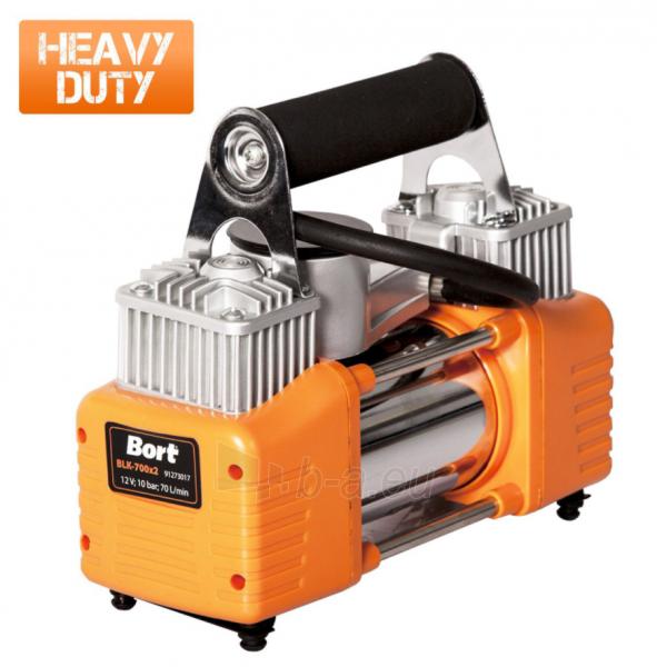 Automobilinis oro kompresorius BORT BLK-700x2 Paveikslėlis 1 iš 12 310820242497