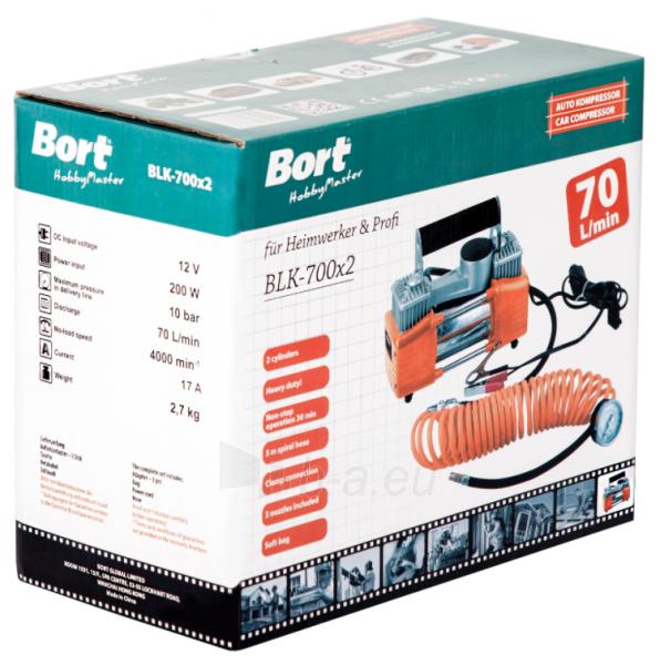 Automobilinis oro kompresorius BORT BLK-700x2 Paveikslėlis 3 iš 12 310820242497