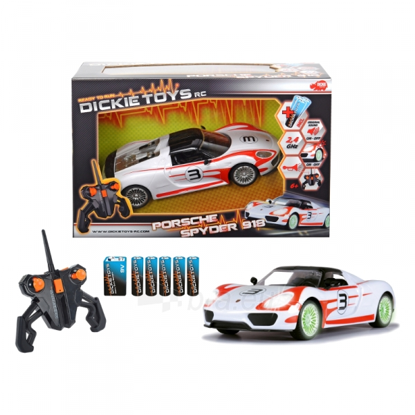 Automobilis valdomas RC Porsche Spyder, RTR Paveikslėlis 1 iš 2 310820082341