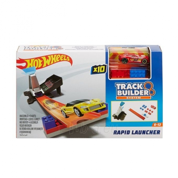 Automobilių trasa DWW94 / DNH84 Hot Wheels Playset Track Builder System - Rapid Launcher MATTEL Paveikslėlis 4 iš 6 310820137307