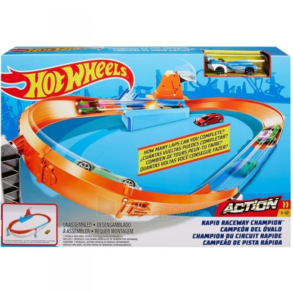 Automobilių trąsa GBF81 / GJM75 Mattel Hot Wheels Rapid Raceway Champion Play Set Paveikslėlis 2 iš 6 310820230590