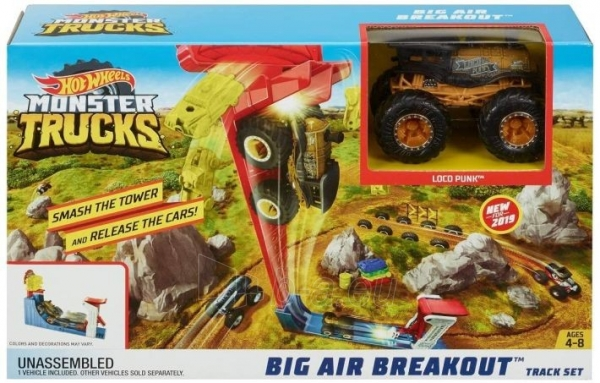Automobilių trąsa GCG00 Hot Wheels Monster Toy Truck Slam Launcher Play Set Paveikslėlis 2 iš 4 310820230563