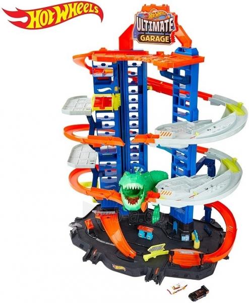 Automobilių trąsa GJL14 Hot Wheels City Robo T-Rex Ultimate Garage Multi-Level Paveikslėlis 2 iš 6 310820230566