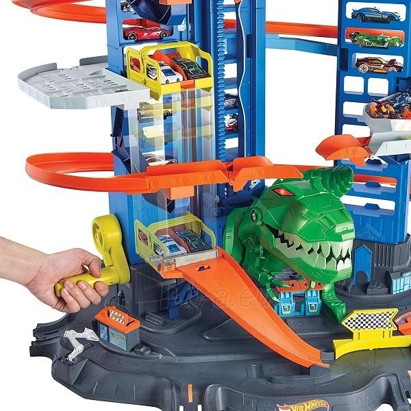 Automobilių trąsa GJL14 Hot Wheels City Robo T-Rex Ultimate Garage Multi-Level Paveikslėlis 3 iš 6 310820230566
