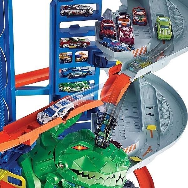 Automobilių trąsa GJL14 Hot Wheels City Robo T-Rex Ultimate Garage Multi-Level Paveikslėlis 4 iš 6 310820230566