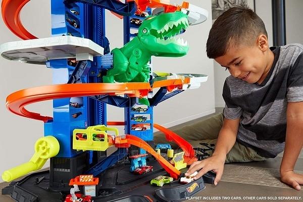 Automobilių trąsa GJL14 Hot Wheels City Robo T-Rex Ultimate Garage Multi-Level Paveikslėlis 5 iš 6 310820230566
