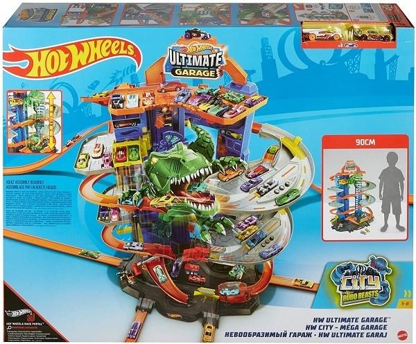 Automobilių trąsa GJL14 Hot Wheels City Robo T-Rex Ultimate Garage Multi-Level Paveikslėlis 6 iš 6 310820230566
