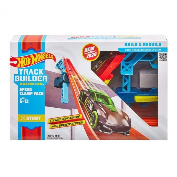 Automobilių trąsa GLC92 Hot Wheels Track Builder Unlimited Speed Clamp Pack Paveikslėlis 1 iš 4 310820230588