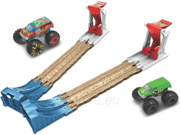 Automobilių trąsa GYC80 Hot Wheels Monster Trucks Double Destruction Play Set MATTEL . Paveikslėlis 3 iš 6 310820249564