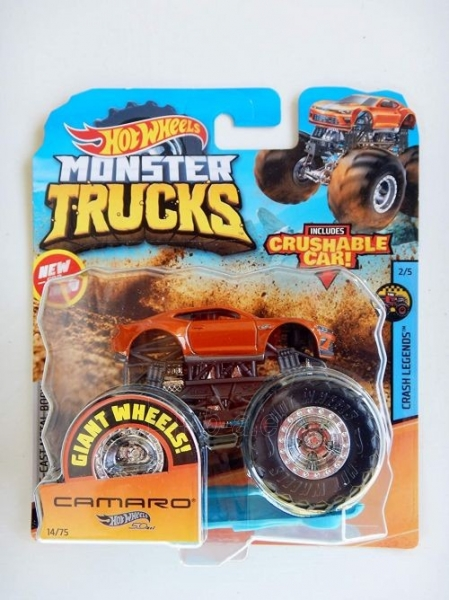 Automobiliukas FYJ44 / GJD78 Hot Wheels Monster Trucks 1:64 Scale Die-Cast Assortment with Giant Wheels Paveikslėlis 1 iš 1 310820230647